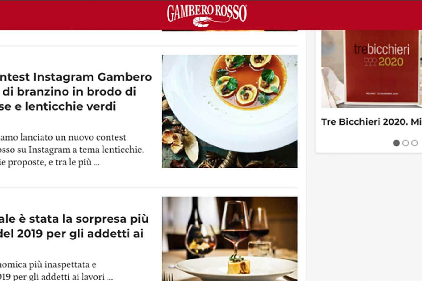 La nostra ricetta ha vinto il contest Instagram Gambero Rosso.