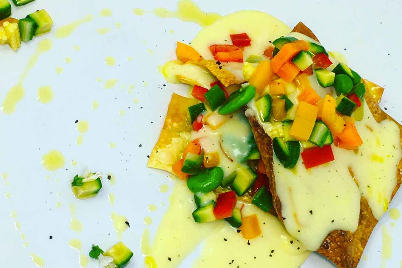 Lasagne croccanti di verdure