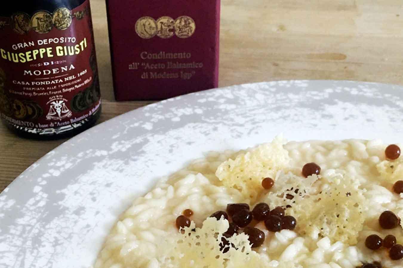 Risotto parmigiano e aceto balsamico